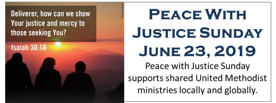 Peace With Justice Sunday 2019